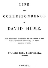 Cover of Life and Correspondence of David Hume, Volume 1