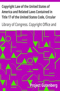 Cover of Copyright Law of the United States of America and Related Laws Contained in Title 17 of the United States Code, Circular 92