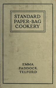 Cover of Standard Paper-Bag Cookery