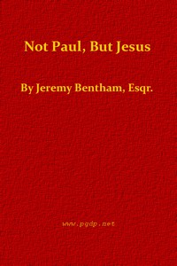 Cover of Not Paul, But Jesus