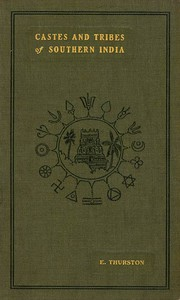 Cover of Castes and Tribes of Southern India. Vol. 7 of 7