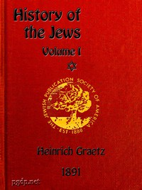 Cover of History of the Jews, Vol. 1 (of 6)