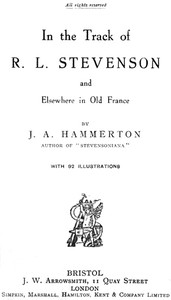 Cover of In the Track of R. L. Stevenson and Elsewhere in Old France