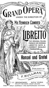 Cover of Hänsel and Gretel: A Fairy Opera in Three Acts
