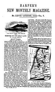 Cover of Harper's New Monthly Magazine, No. XXVII, August 1852, Vol. V
