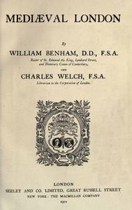 Cover of Mediæval London
