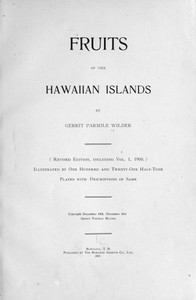 Cover of Fruits of the Hawaiian Islands