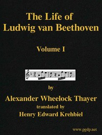 Cover of The Life of Ludwig van Beethoven, Volume I