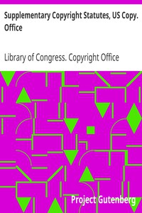 Cover of Supplementary Copyright Statutes, US Copy. Office
