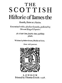 Cover of The Scottish History of James the Fourth1598