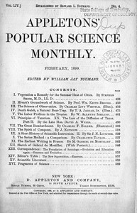 Cover of Appletons' Popular Science Monthly, February 1899Volume LIV, No. 4, February 1899