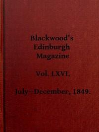 Cover of Blackwood's Edinburgh Magazine, Vol. 66, No 405, July 1849