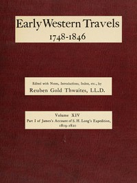 Cover of James's Account of S. H. Long's Expedition, 1819-1820, part 1