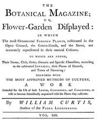 Cover of The Botanical Magazine,  Vol. 13 Or, Flower-Garden Displayed