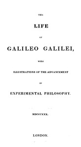 Cover of The Life of Galileo Galilei, with Illustrations of the Advancement of Experimental PhilosophyLife of Kepler