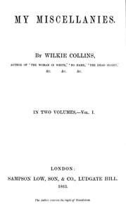My Miscellanies, Vol. 1 (of 2)