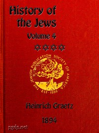 Cover of History of the Jews, Vol. 4 (of 6)