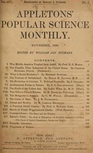 Cover of Appletons' Popular Science Monthly, November 1898 Volume 54, November 1898