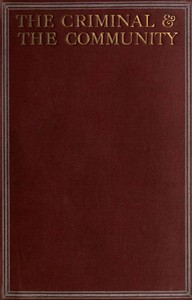 Cover of The Criminal & the Community