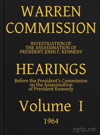 Cover of Warren Commission (01 of 26): Hearings Vol. I (of 15)
