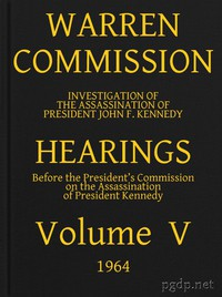 Cover of Warren Commission (05 of 26): Hearings Vol. V (of 15)