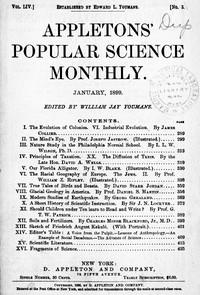 Appletons' Popular Science Monthly, January 1899Volume LIV, No. 3, January 1899
