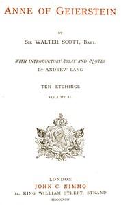 Anne of Geierstein; Or, The Maiden of the Mist. Volume 2 (of 2)