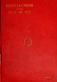 Cover of Recollections of the War of 1812