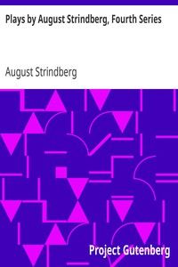 Cover of Plays by August Strindberg, Fourth Series