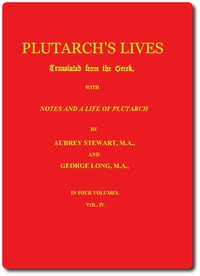 Cover of Plutarch's Lives, Volume 4 (of 4)