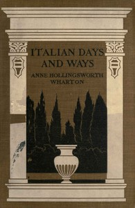 Cover of Italian Days and Ways