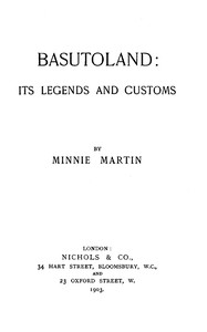 Basutoland: Its Legends and Customs