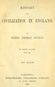 Cover of History of Civilization in England, Vol. 3 of 3