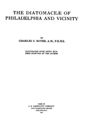 Cover of The Diatomaceæ of Philadelphia and Vicinity
