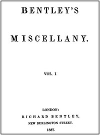 Cover of Bentley's Miscellany, Volume I