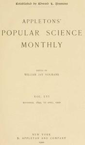 Cover of Appletons' Popular Science Monthly, November 1899Volume LVI, No. 1