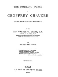 Chaucer's Works, Volume 2 — Boethius and Troilus