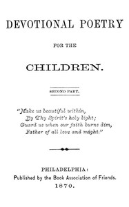 Cover of Devotional Poetry for the Children. Second Part