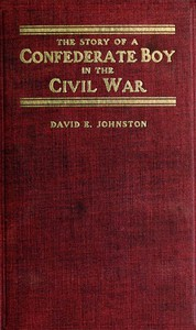 Cover of The Story of a Confederate Boy in the Civil War