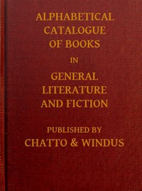 Cover of Alphabetical Catalogue of Books in General Literature and Fiction [1913]