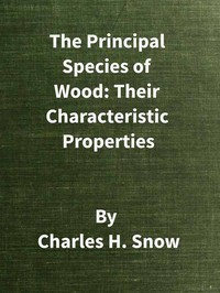 The Principal Species of Wood: Their Characteristic PropertiesFirst Edition