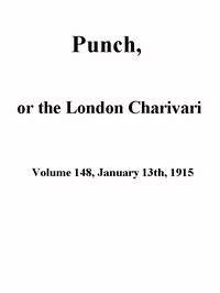Cover of Punch, or the London Charivari, Volume 148, January 13th 1915
