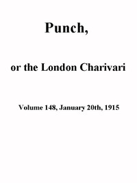Cover of Punch, or the London Charivari, Volume 148, January 20th 1915
