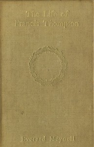 Cover of The Life of Francis Thompson