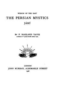 Cover of The Persian Mystics: Jámí
