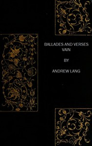 Cover of Ballades and Verses Vain