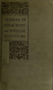 Cover of Studies in Folk-Song and Popular Poetry