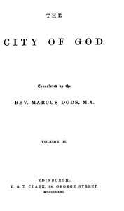 Cover of The City of God, Volume II