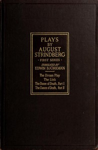 Cover of Plays by August Strindberg, First Series