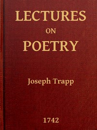 Cover of Lectures on PoetryRead in the Schools of Natural Philosophy at Oxford